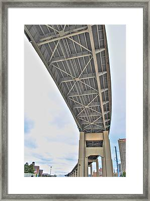 Framed Print featuring the photograph Under The Skyway by Michael Frank Jr