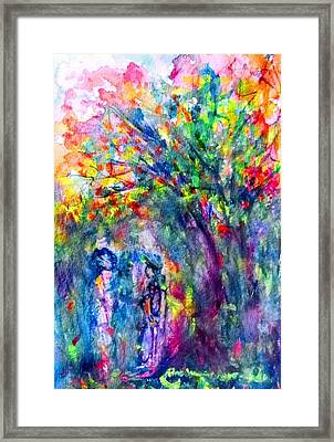 Under The Trees Framed Print