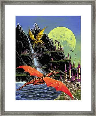 Under The Yellow Moon Framed Print by Kurt Jacobson