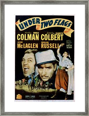 Under Two Flags, Victor Mclaglen Framed Print by Everett