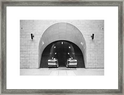 Underground Arch Way Framed Print