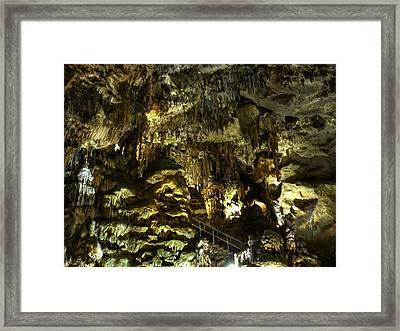Underground Cave Framed Print by Martin Marinov
