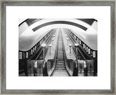 Underground Escalator Framed Print by Archive Photos