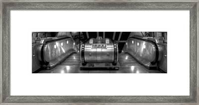 Underground Escalator Framed Print by Svetlana Sewell