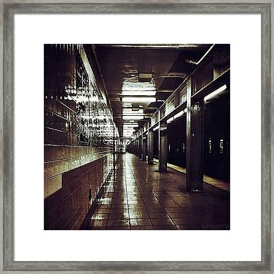 Underground Gotham Framed Print