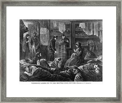 Underground Lodgings For The Poor Framed Print