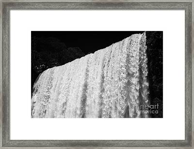 Underneath The Adan Y Eva Adam And Eve Fall In Iguazu National Park Argentina Framed Print by Joe Fox