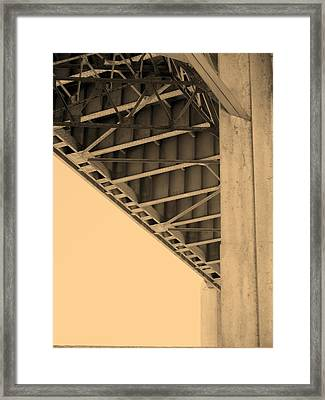 Underside Of 6th Street Bridge Framed Print by Kevin  Break