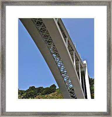 Underside Of Beautiful Bridge Framed Print by Kirsten Giving