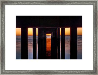 Underside Of The Pier Framed Print by Pixel Perfect by Michael Moore