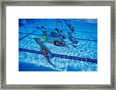 Underwater Hockey Framed Print