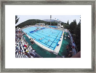 Underwater Hockey Match Framed Print