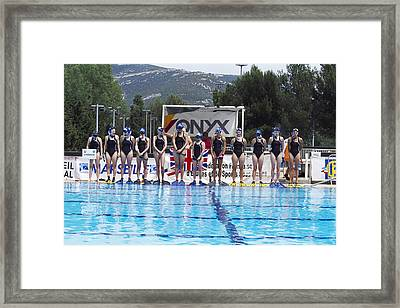 Underwater Hockey Players Framed Print