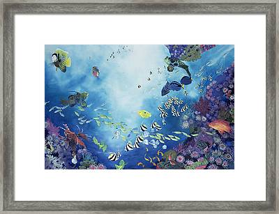 Underwater World IIi Framed Print by Odile Kidd