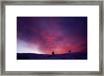 Framed Print featuring the photograph Undine Sunset by J L Woody Wooden