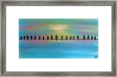 Unemployment Line -economy 2012 Series Of 3 Framed Print by Cindy Micklos