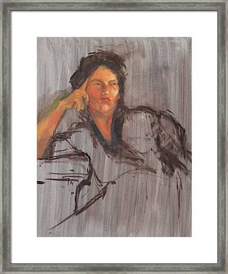 Unfinished Portrait Framed Print by Becky Kim