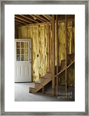 Unfinished Stairs In House Framed Print by Roberto Westbrook