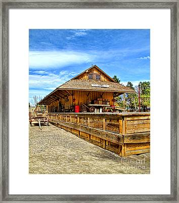 Unfinished Train Station Framed Print by Jason Abando