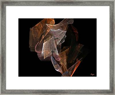 Framed Print featuring the digital art Unfolding by John Pangia