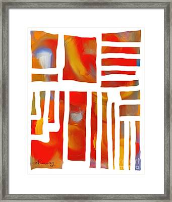 Unglued Framed Print