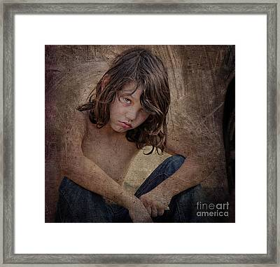 Unhappy Framed Print by Billie-Jo Miller