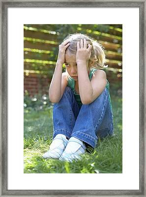 Unhappy Girl Framed Print by Ian Boddy