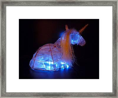 Unicorn Hat Framed Print by Rylee Stearnes