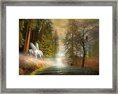Unicorn In The Morning Framed Print by Svetlana Sewell