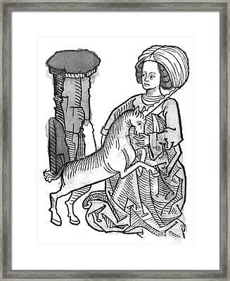 Unicornus Varius, 1491 Framed Print by Photo Researchers