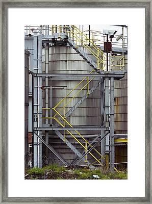 Unilever Industrial Plant, Uk Framed Print by Mark Williamson