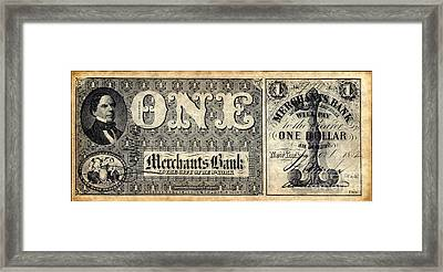 Union Banknote, 1862 Framed Print by Granger