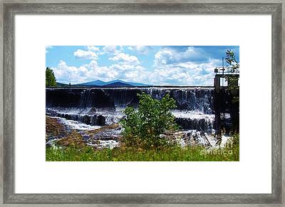 Union Falls  Framed Print by Peggy Miller