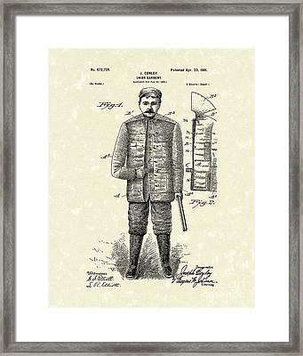 Union Garment 1901 Patent Art Framed Print by Prior Art Design