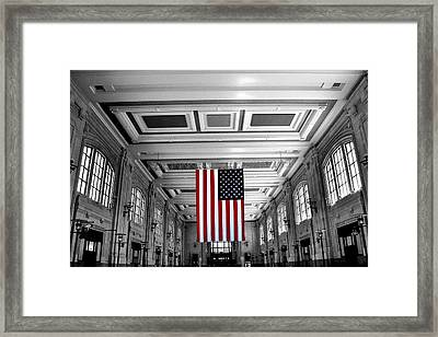 Union Glory Framed Print