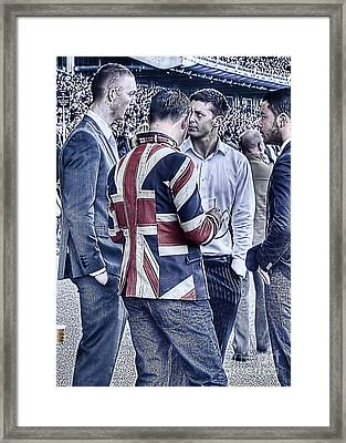 Framed Print featuring the photograph Union Jacks Ablaze At Ascot by Jack Torcello
