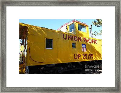 Union Pacific Caboose - 5d19205 Framed Print by Wingsdomain Art and Photography