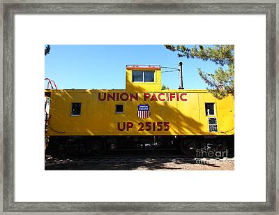 Union Pacific Caboose - 5d19206 Framed Print by Wingsdomain Art and Photography