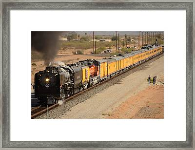 Union Pacific Grand Canyon State Steam Special Train Picacho Arizona November 15 2011 Framed Print by Brian Lockett