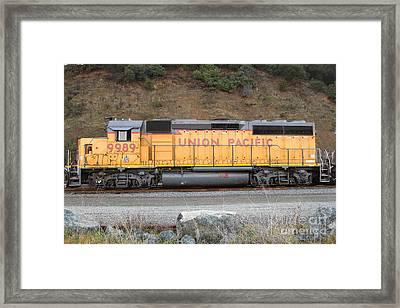 Union Pacific Locomotive . 7d10569 Framed Print by Wingsdomain Art and Photography
