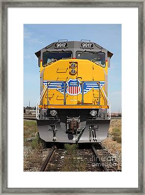 Union Pacific Locomotive Train - 5d18636 Framed Print by Wingsdomain Art and Photography