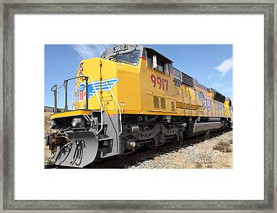 Union Pacific Locomotive Train - 5d18643 Framed Print by Wingsdomain Art and Photography