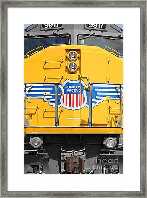 Union Pacific Locomotive Train - 5d18645 Framed Print by Wingsdomain Art and Photography