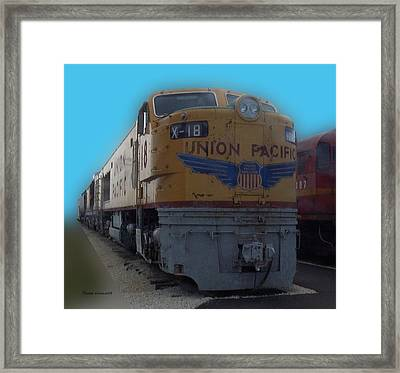 Union Pacific X 18 Train Framed Print by Thomas Woolworth