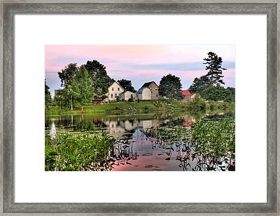 Union River Sunset  Framed Print