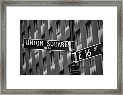 Union Square West Framed Print by Susan Candelario