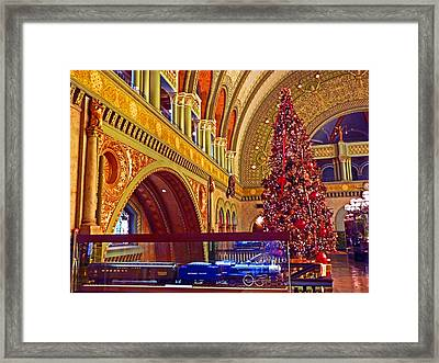 Framed Print featuring the photograph Union Station Christmas by William Fields