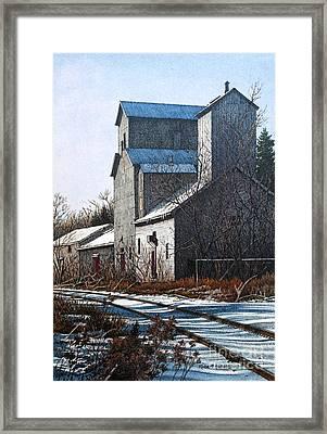 Unionville Railyard Framed Print