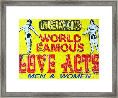 Unisexxx Club Framed Print by Wingsdomain Art and Photography