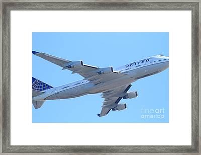 United Airlines Boeing 747 . 7d7838 Framed Print